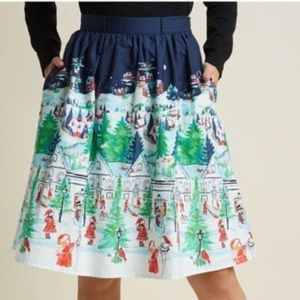 Modcloth Winter Wonderland Christmas Skirt